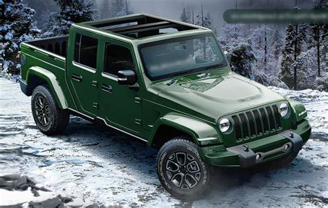 new jeep truck concept new spy shots show 2020 jeep wrangler pickup with