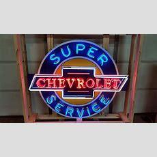 Chevrolet Super Service Tin Neon Sign 48x54  J24