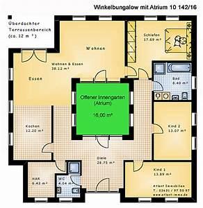 Atriumhaus Bauen Kosten : atrium 10 winkelbungalow 142 16 einfamilienhaus neubau ~ Lizthompson.info Haus und Dekorationen