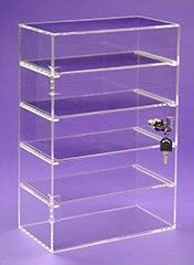 shelf acrylic locking showcase retail display case