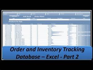 Order Template Excel Excel Vba Orders And Inventory Excel 2013 Part2