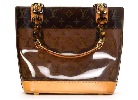 louis vuitton  ed monogram ambre plastic pm tote bag