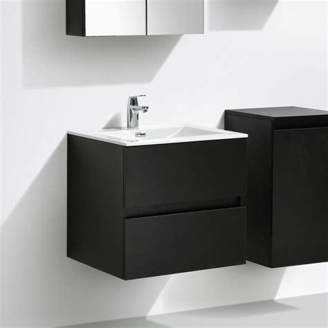 meuble salle de bain design simple vasque siena largeur 60 cm ch 234 ne noir a 600 cab mblack a