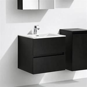 Meuble Vasque 60 : meuble salle de bain design simple vasque siena largeur 60 cm ch ne noir a 600 cab mblack a ~ Teatrodelosmanantiales.com Idées de Décoration