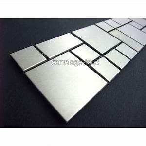 Frise Carrelage Sol : listel inox mosaique carrelage frise acier metal laska ~ Melissatoandfro.com Idées de Décoration