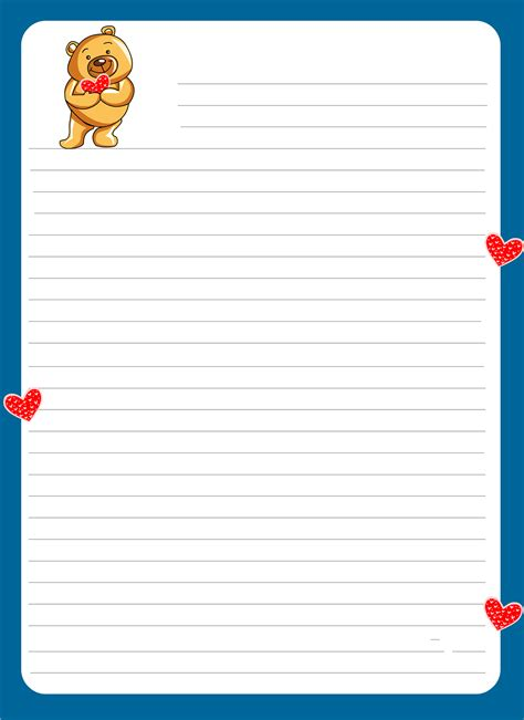 lined paper  kids notebook paper templates