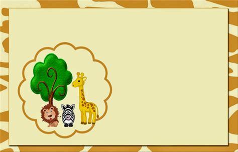 la selva invitaciones o tarjetas para imprimir gratis ideas y material gratis para fiestas y