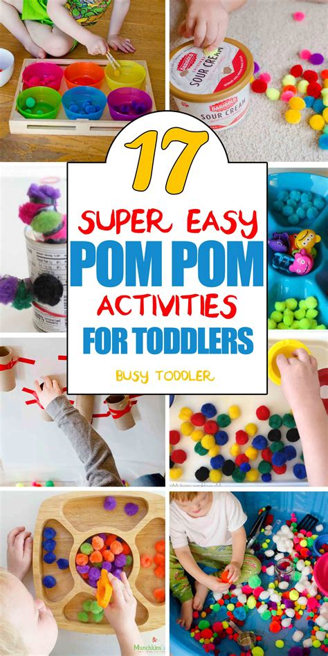 pom pom activities  toddlers toddler activities