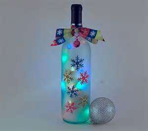 bing wine bottle crafts with lights gifts to make pinterest