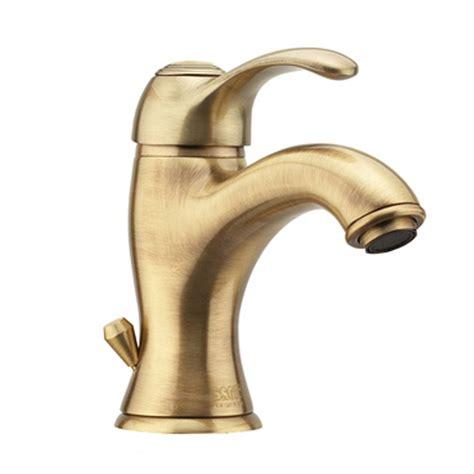 rubinetteria fiore miscelatore per lavabo con scarico in ottone bronzato