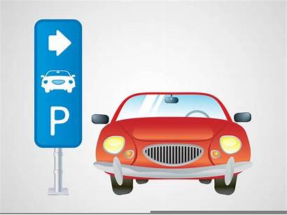 Parking Vector Lot Clipart Parked Clip Cars