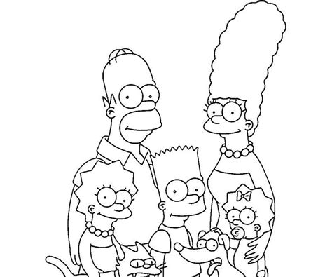 simpsons coloring pages  print coloring home