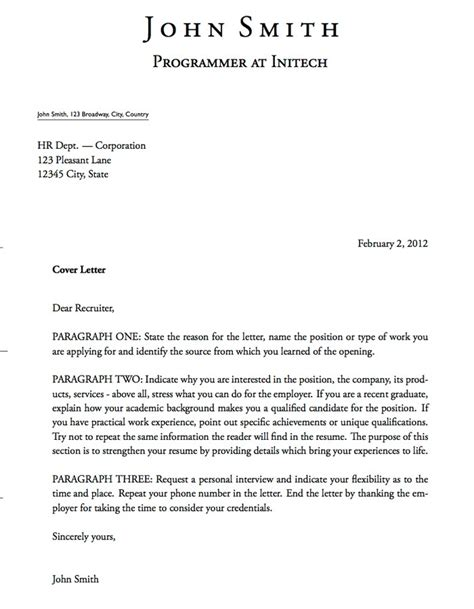 effective cover letters  templates