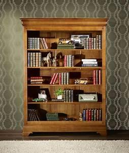 Bibliothèque En Bois Massif : biblioth que en merisier massif de style louis philippe meuble en merisier ~ Teatrodelosmanantiales.com Idées de Décoration