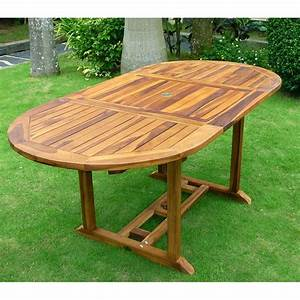 Table De Jardin 8 Places : table en teck de jardin 8 places finition huil e ~ Teatrodelosmanantiales.com Idées de Décoration