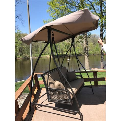 patio swings with canopy menards menards swing canopy replacement garden winds