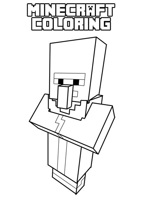 minecraft 13 printable coloring pages