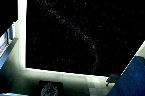 ciel étoilé chambre plafond ciel étoilé fibre optique led plafonnier mycosmos