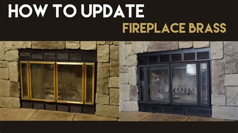 update fireplace brass youtube