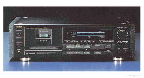 aiwa excelia xk  manual  head stereo cassette deck hifi engine
