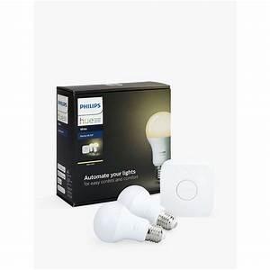 Hue Starter Kit : philips hue white personal wireless lighting led starter kit at john lewis ~ Orissabook.com Haus und Dekorationen