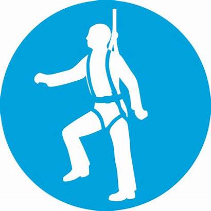 Harness Safety Sign Protection Clipart Mandatory Hse