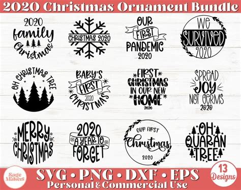 Free printable snowflake templates, patterns, stencils, and designs that you can use for christmas ornaments, decorations, or as coloring pages. Christmas Ornament SVG Bundle 2020 Christmas Ornaments Svg ...