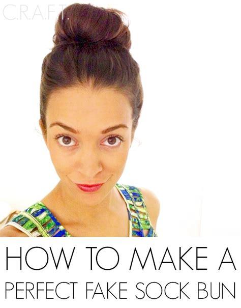 How To Make A Fake Sock Bun {easy Bun} Craft
