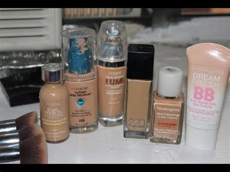 My Top Drugstore Foundations for Acne & Oily Skin - YouTube