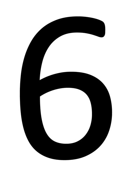 black and white south six number 6 png images free 6 png