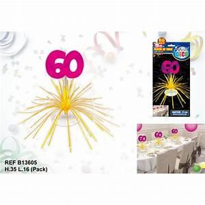Deco Table Anniversaire 60 Ans : centre de table 60 ans ~ Dallasstarsshop.com Idées de Décoration