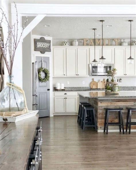 modern farmhouse kitchen design id 233 es d 233 co pour 238 lot cuisine point central de l espace 7614