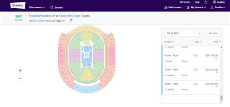 The Ticket Prices For Mayweather-mcgregor Are Predictably