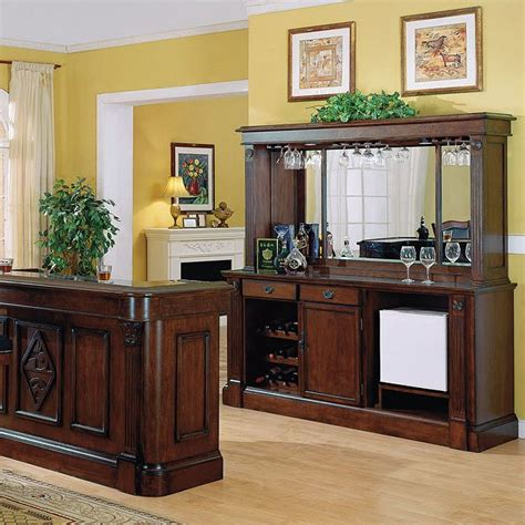 Back Bar Furniture by Monticello Back Bar W Hutch Distressed Walnut Home