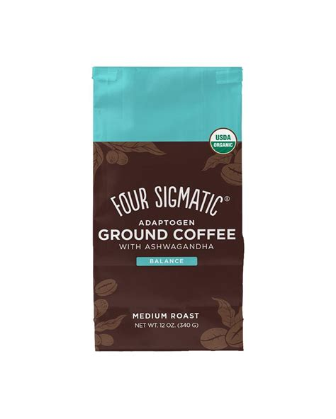 The mushroom coffees as well as the coffee latte, adaptogen ground coffee and adaptogen coffee contain organic, 100% arabica coffee, along with. Four Sigmatic Adaptogen Ground Coffee With Ashwagandha - Hive Brands
