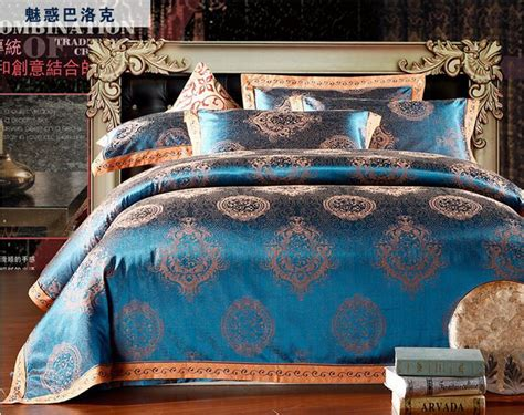 16 types jacquard bedding set luxury 4pc comforter bedding