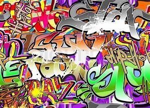 Graffiti wall urban background seamless Stock Vector