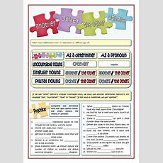 Other  Another  The Other  Others Worksheet  Free Esl Printable Worksheets Made By Teachers
