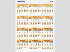 calendario 2018 Horizontal y Vertical
