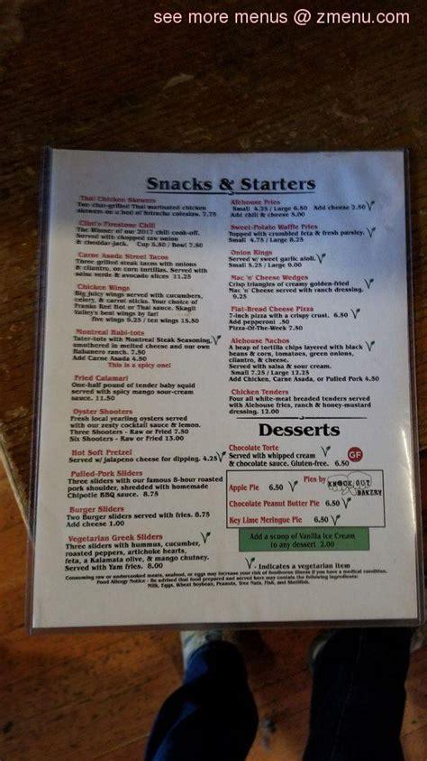 menu  brown lantern ale house restaurant