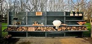 Outdoor Küche Beton : outdoor k che beton anthrazit utensilien abstellraum holz ~ Michelbontemps.com Haus und Dekorationen