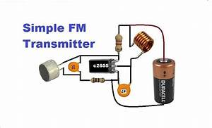 Fm Tansmitter With Adjustable Frequency Using A Trimmer Capacitor