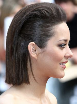 marion cotillards pulled  straight bob hairstyle