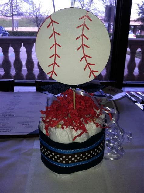 sports centerpieces for tables sports theme baby shower mini diaper cakes baby shower