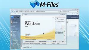 m files easy document management software demo youtube With document management system demo