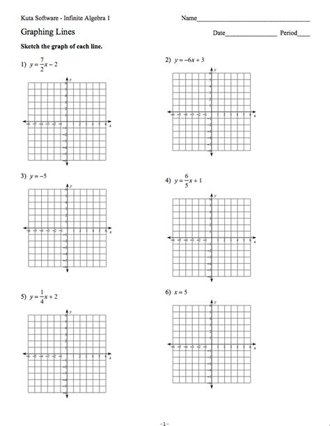 graphing lines worksheet printables graphing linear equations worksheets