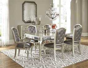 rooms to go kitchen furniture dining room set in platinum bling by samuel furniture home gallery stores