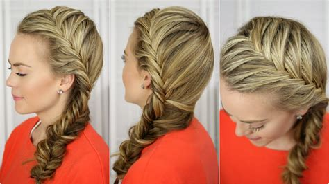 fishtail french braid youtube
