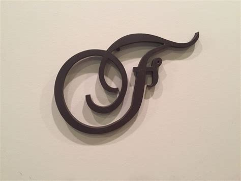 large wood monogram letter  script letter fancy letter wall mounted head wedding table
