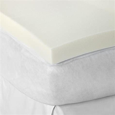 bed bath and beyond mattress topper therapedic 174 3 inch memory foam mattress topper bed bath